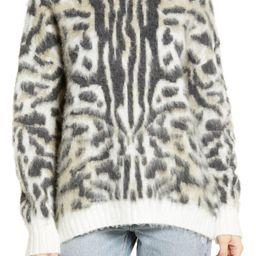Leopard Brushed Pullover | Nordstrom