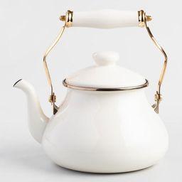 Ivory Enamel Tea Kettle | World Market