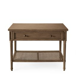 Harbour Cane Wide Nightstand | Serena and Lily