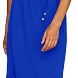 Yidarton Women's Summer Casual Dress Adjustable Strappy Split Floral Midi Beach Dress | Amazon (US)