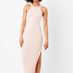 Rasha Ribbed Jersey Bodycon Midi Dress | French Connection (US)