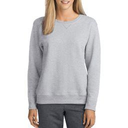 Hanes Womens V-Notch Pullover Fleece Sweatshirt | Walmart (US)