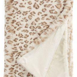 Faux Leopard Fur Throw Blanket   Nordstrom
