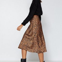 Come Down Leopard On 'Em Midi Skirt   NastyGal (US & CA)