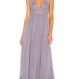 Free People Adella Maxi Slip Dress in Slate. - size L (also in XS,S,M) | Revolve Clothing (Global)