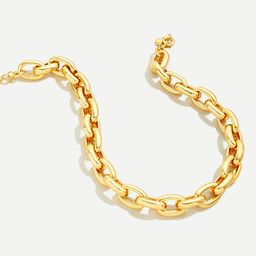 Chunky chain-link necklace   J.Crew US