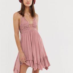 Free People Adella slip dress-Pink | ASOS (Global)