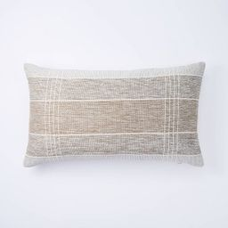 Lumbar Two Tone Textured Pillow Green - Threshold™ designed with Studio McGee | Target