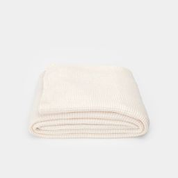 Simple Lightweight Waffle Blanket Ivory Queen | Amber Interiors