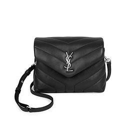 Saint Laurent Women's Toy Loulou Matelassé Leather Crossbody Bag - Black   Saks Fifth Avenue