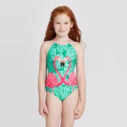 Girls' Flamingo Love One Piece Swimsuit - Cat & Jack™ Turquoise | Target