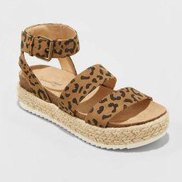 Women's Agnes Microsuede Espadrille Platform Sandals - Universal Thread™   Target