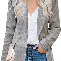 luvamia Women's Casual Long Sleeve Lapel Button Slim Work Office Blazer Jacket   Amazon (US)