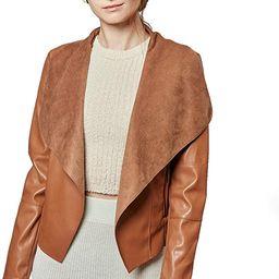 Escalier Women's Faux Leather Jackets Slim Open Front Lapel Blazer Jackets   Amazon (US)