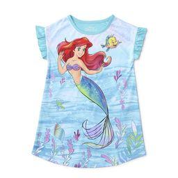 Little Mermaid Toddler Girls Short Sleeve Nightgown Pajamas | Walmart (US)
