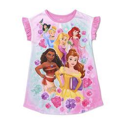 Disney Princess Toddler Girls Short Sleeve Nightgown Pajamas | Walmart (US)