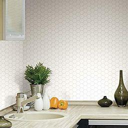 RoomMates Sticktiles Pearl Hexagon Peel and Stick Backsplash Tiles - 4 Per Pack , Multi , 10.5x10... | Amazon (US)
