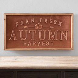 New! Autumn Harvest Metal Wall Plaque   Kirkland's Home