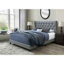 Nadine Queen Tufted Upholstered Low Profile Standard Bed Willa Arlo Interiors Color: Gray | Wayfair North America