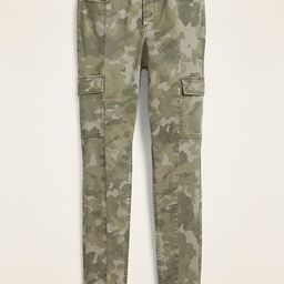 High-Waisted Camo Sateen Rockstar Super Skinny Cargo Pants for Women | Old Navy (US)