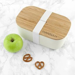 Personalised Engraved Real Bamboo Wood and Fibre Lunch Box   Etsy   Etsy (US)