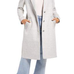 Women's Bernardo Plaid Coat, Size Large - Grey   Nordstrom