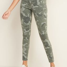 Mid-Rise Floral-Camo Print Rockstar Super Skinny Jeans for Women | Old Navy (US)