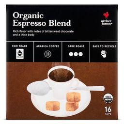 Organic Espresso Blend Dark Roast Coffee - Single Serve Pods- 16ct - Archer Farms™   Target