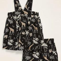 Safari-Print Sleeveless Top & Shorts Set for Toddler Girls | Old Navy (US)