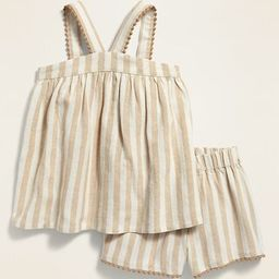 Striped Sleeveless Top and Shorts Set for Toddler Girls | Old Navy (US)