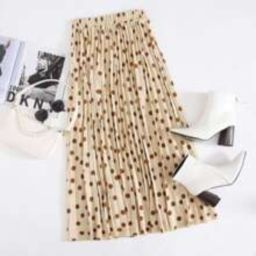 Polka Dot Pleated Skirt | SHEIN