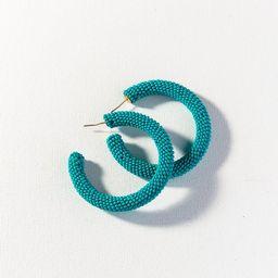Turquoise Seed Bead Hoop Earring   INK+ALLOY