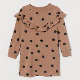 Ruffled Sweatshirt Dress   H&M (US)