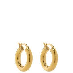 Bottega Veneta - Gold-plated Sterling-silver Hoop Earrings - Womens - Yellow Gold   Matchesfashion (UK)