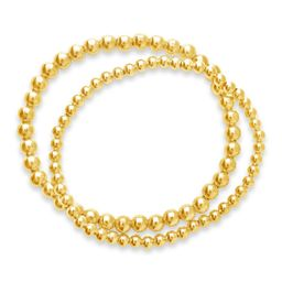 14K Gold Plated Beaded Stretch Bracelet Set | Nordstrom Rack