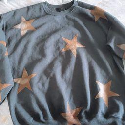 Star Bleach-Dye Sweatshirt | Etsy (US)