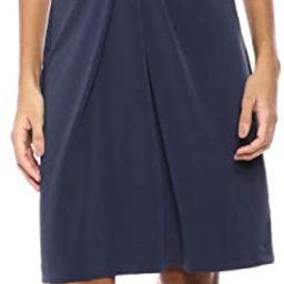 Amazon Brand - Lark & Ro Women's Crepe Knit Short Sleeve Center Twist Dress | Amazon (US)