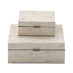 Leeja 2 Piece Mother of Pearl Inlay Decorative Box Set | Wayfair North America