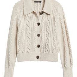 Heritage Cable-Knit Cardigan Sweater | Banana Republic (US)