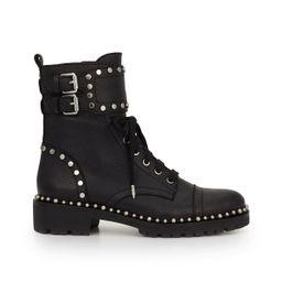Sam Edelman Jennifer Combat Boot Black Leather | Sam Edelman