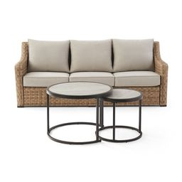 Better Homes & Gardens River Oaks 3-Piece Sofa & Nesting Tables Set with Patio Cover - Walmart.co...   Walmart (US)