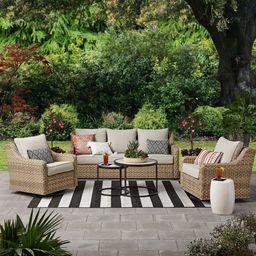 Better Homes & Gardens River Oaks 5-Piece Wicker Conversation Set with Patio Covers - Walmart...   Walmart (US)