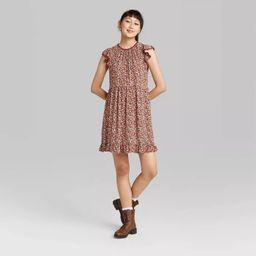 Women's Flutter Short Sleeve Trapeze Dress - Wild Fable™   Target