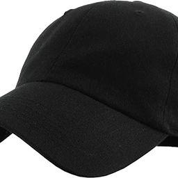 Classic Polo Style Baseball Cap All Cotton Made Adjustable Fits Men Women Low Profile Black Hat U... | Amazon (US)