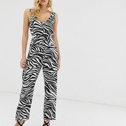 Zibi London zebra print jumpsuit-Multi | ASOS (Global)