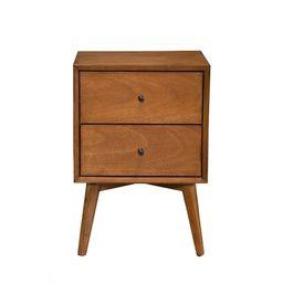 Mid Century Mahogany Wood Nightstand, Acron (2-drawer) | Overstock