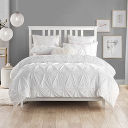 Swift Home Floral Pintuck 3-Piece King/California King Duvet Cover Set in White   Bed Bath & Beyond