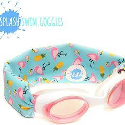 Splash Swim Goggles - Flamingo Island - Fun, Fashionable, Comfortable - Fits Kids and Adults - Wo... | Amazon (US)