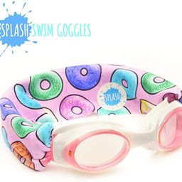 SPLASH Swim Goggles - Donuts - Fun, Fashionable, Comfortable - Fits Kids & Adults - Won't Pull Yo... | Amazon (US)