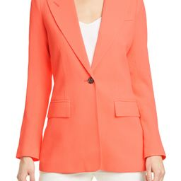 Women's Smythe Wool Crepe Blazer, Size 6 - Orange | Nordstrom